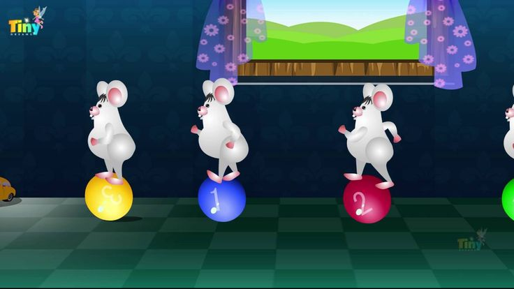 Five Little Mice |TINY DREAMS KIDS | funny animated Kids Video..