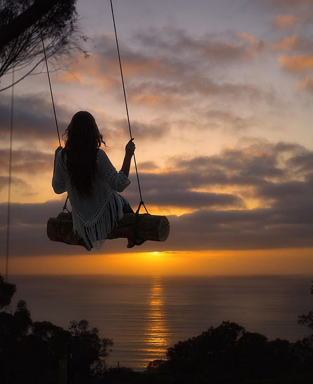 Secret swings above Scripps Pier in La Jolla