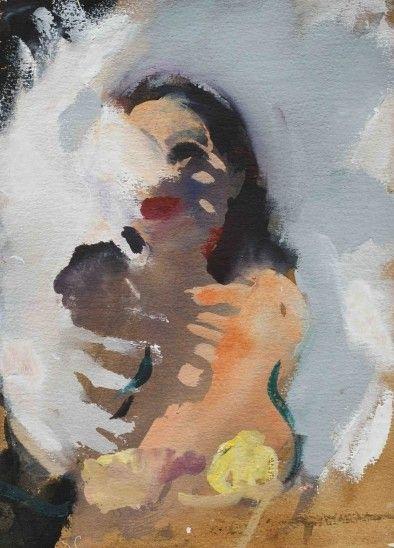White Fan Dance by Wendy Sharpe 2012