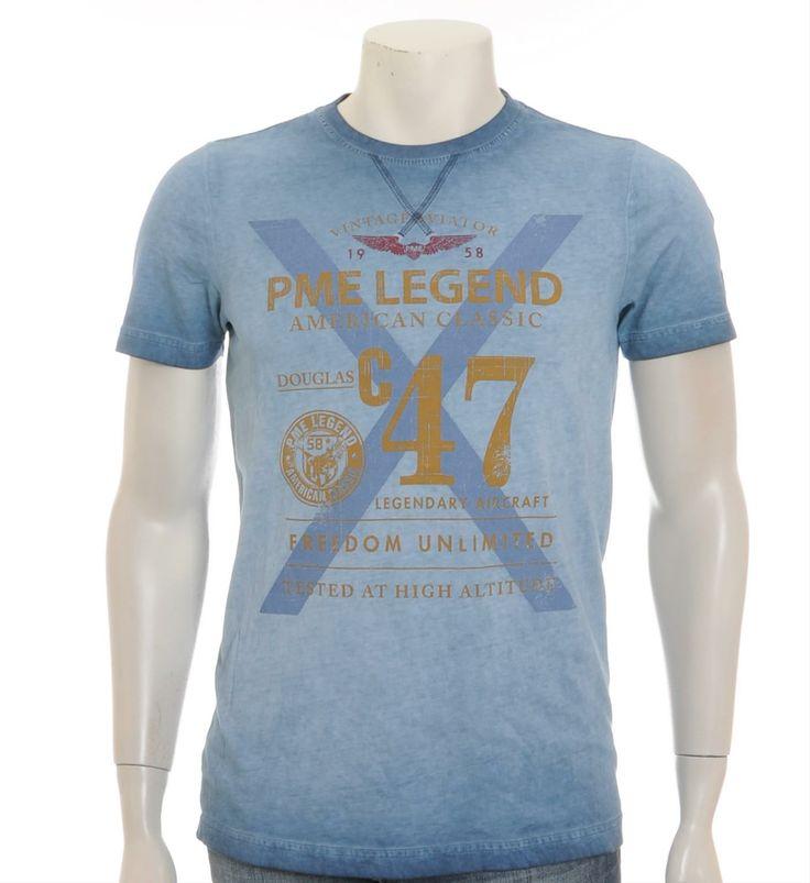 PME Legend - Pall Mall T-shirt - Blauw - NummerZestien.eu