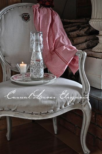 Casual Loves Elegance this is at home by the fire in the dining room!