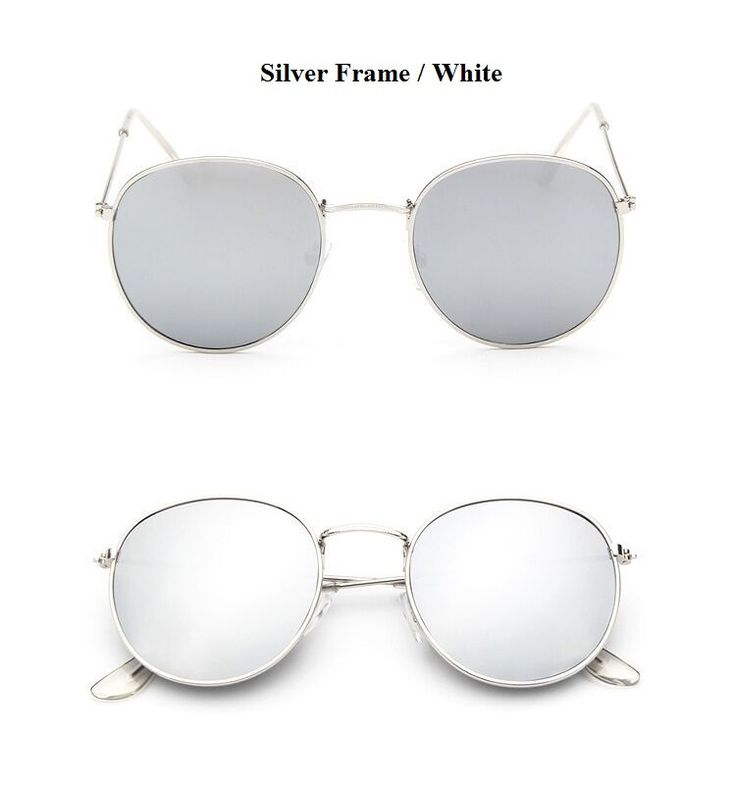Classic round metal frame sunglasses that feature an eye-catching color mirrored lens. A modern update to a classic round metal frame that offers a stylish and refreshing look this season. Made with a