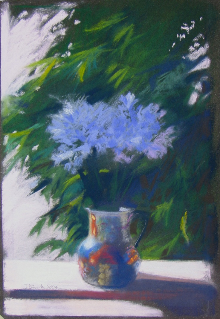 "Artist: Tim Daniels  ""Agapanthus"", 2006  Pastel  12 x 8 inches"