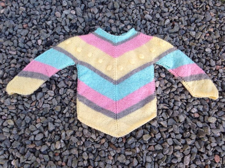 New knitted sweater for my baby girl