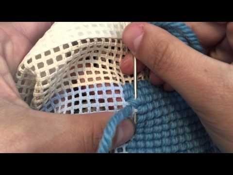 Como bordar Ponto Cruz na vertical - YouTube