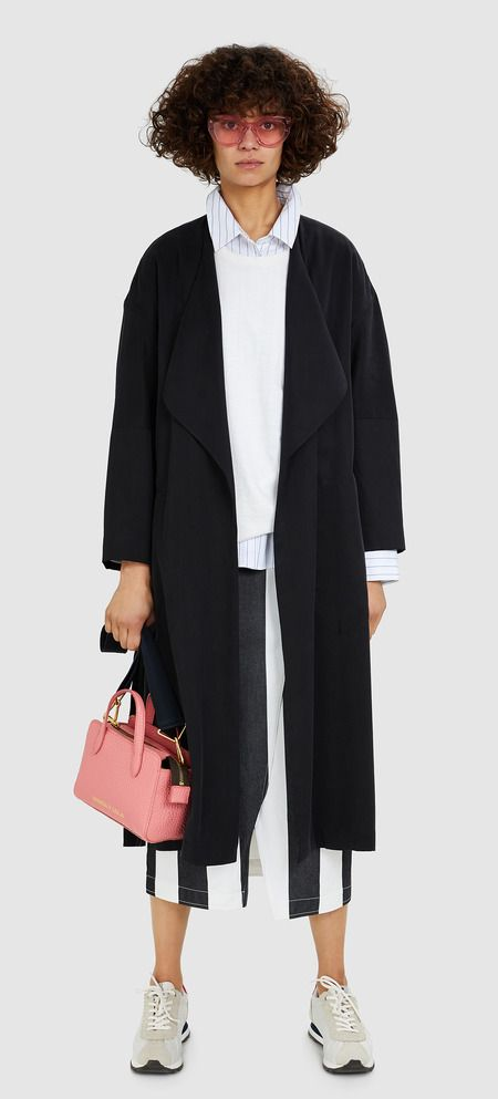 Black fluid trench coat | BIMBA Y LOLA ®