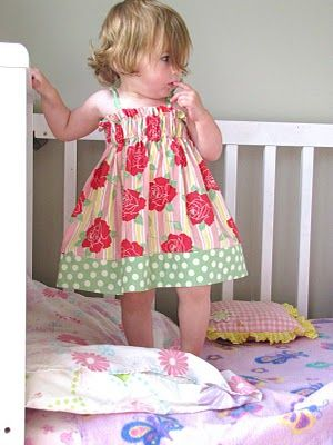 Make for Baby: 25 Free Dress Tutorials for Babies & Toddlers - have to try some of these for Miss P but not til next summer...she's already got too many dresses this year!