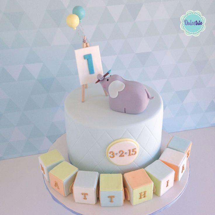 #Firstbirthdaycake #kidscake #boybabyshowercake #babyshower #teddy #cake #celebration #sydneycakes #baby #cute #babyblocks #cutecakes #elephant