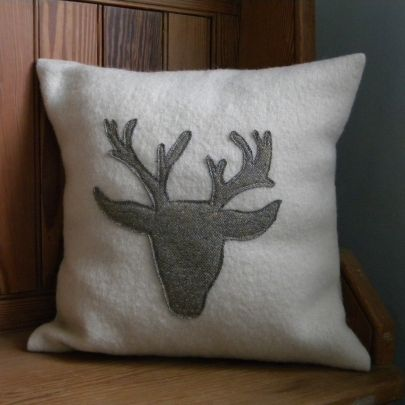 Stags Head Cushion | Country Bumpkin | Gifts | Swanky Maison