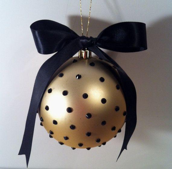 "4"" Matte Bling Rhinestone Shatterproof Christmas Ornament"