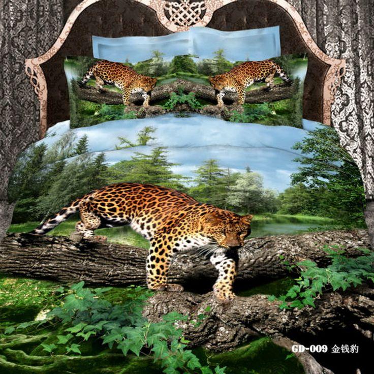 Leopard Cheetah Print Leopard Print Bedding Set