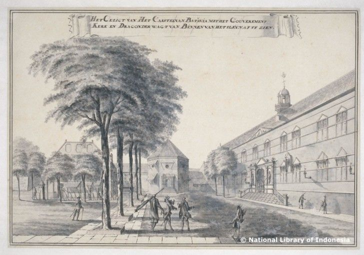 Johannes Rach ; Benteng Batavia = Castle of Batavia   from National Library of Indonesia