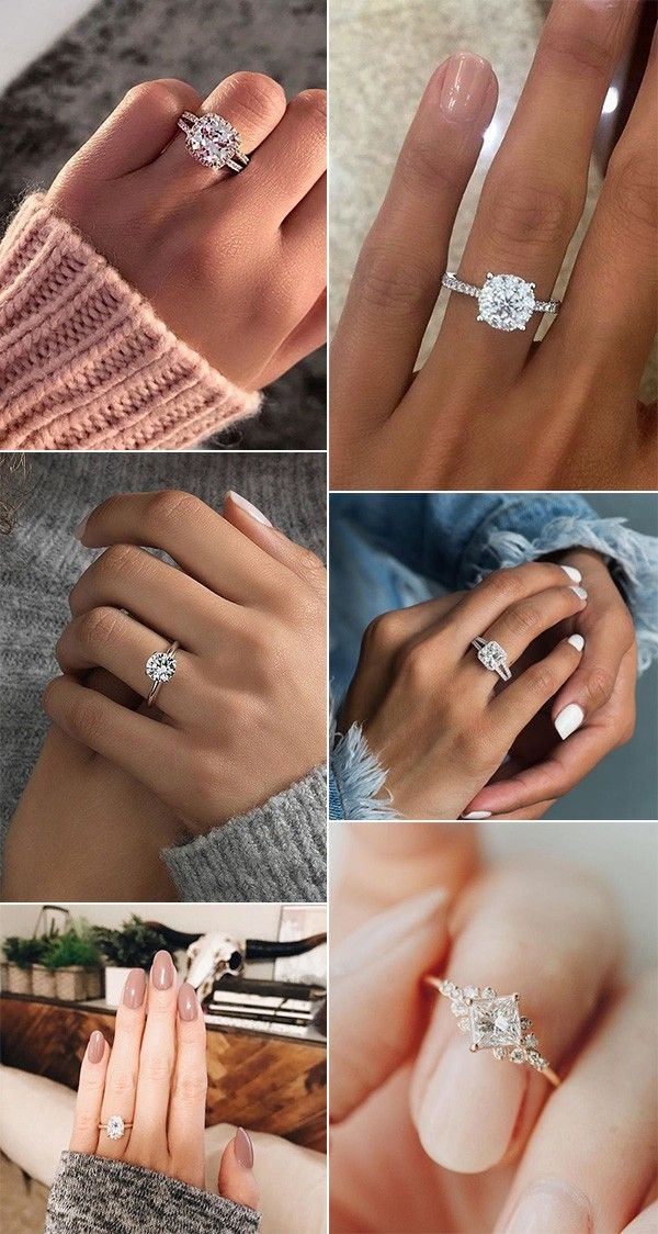 18 Trendy Wedding Engagement Rings For 2019 Brides Oh Best Day Ever In 2020 Trending Engagement Rings Types Of Wedding Rings Rose Gold Diamond Ring Engagement