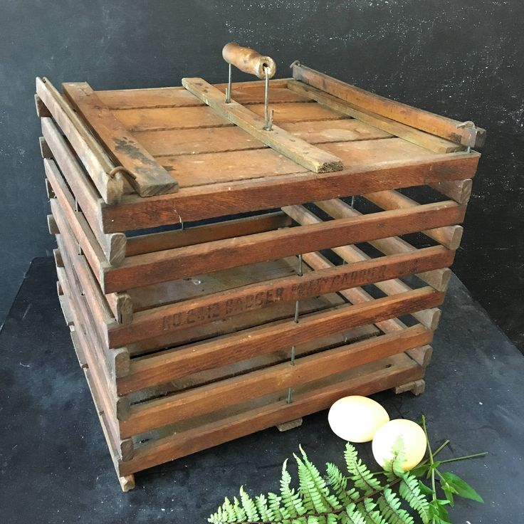 Primitive wooden egg crate ~vintage early 1900s~ rustic farmhouse decor by MilkweedVintageHome by MilkweedVintageHome on Etsy