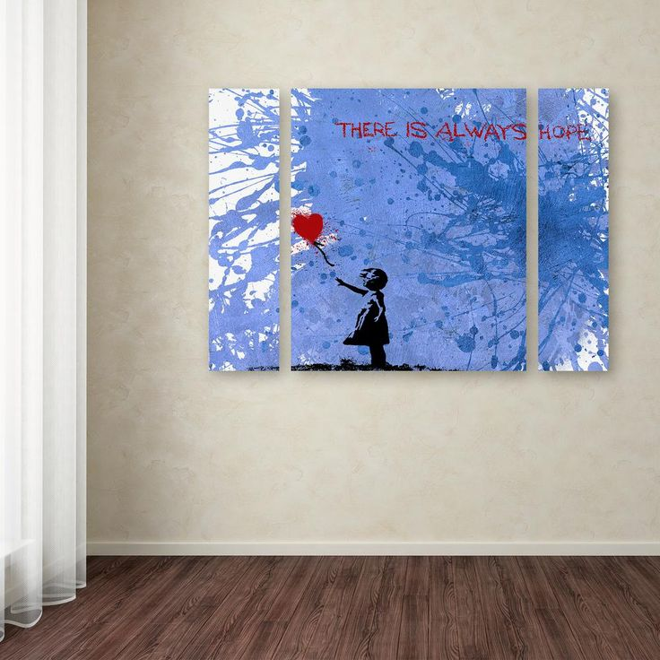 24 in x 32 in there is always hope by banksy printed