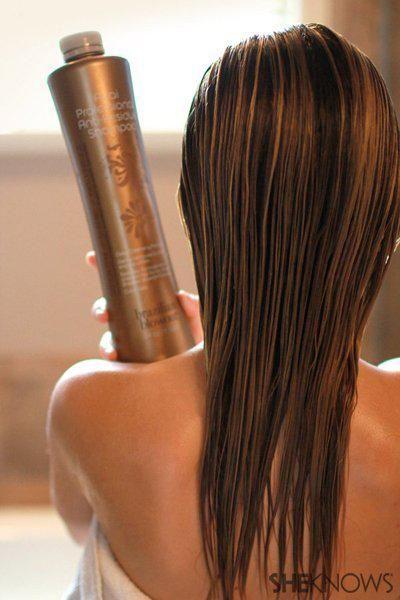 The DIY Brazillian Blowout | SheKnows.com -- shampoo