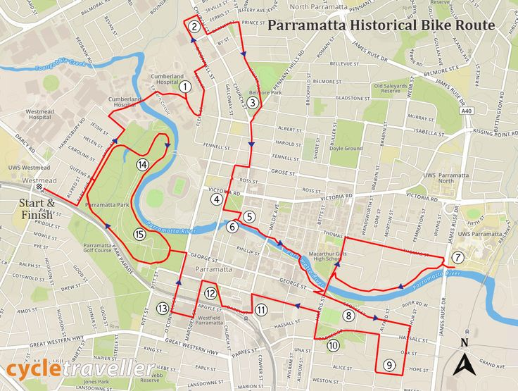 This 19km bicycle route takes riders past some of the most significant sites of Australia's early colonial history. Starting at Westmead train station, this is a relatively easy and flat loop route to cycle. Cyclists may also start the loop ride at Parramatta Station, or Parramatta Ferry Terminal. If driving, you can park in Parramatta Park and begin there. This route utilises shared cycling and pedestrian paths, bike lanes and low-speed limit roads. As such, riders should be confident…