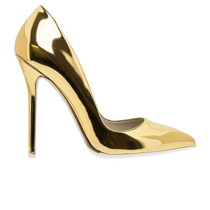 1203A00-GOLD SPEC www.mourtzi.com #pumps #heels #mourtzi #metallics #wow #greekdesigners