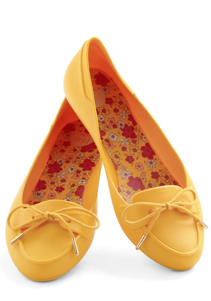 The More the Marigold Flat by Mel Shoes - Flat, Yellow, Solid, Bows