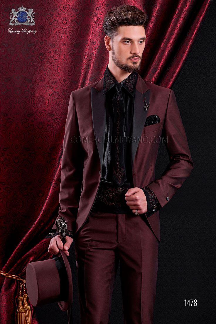 New Arrival Slim fit Groom Tuxedos Mandarin Lapel Men\'s Suit ...