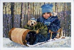 """Chantal Poulin Handsigned and Numbered Limited Edition Print:""""Buddy"""" - Chantal Poulin"""