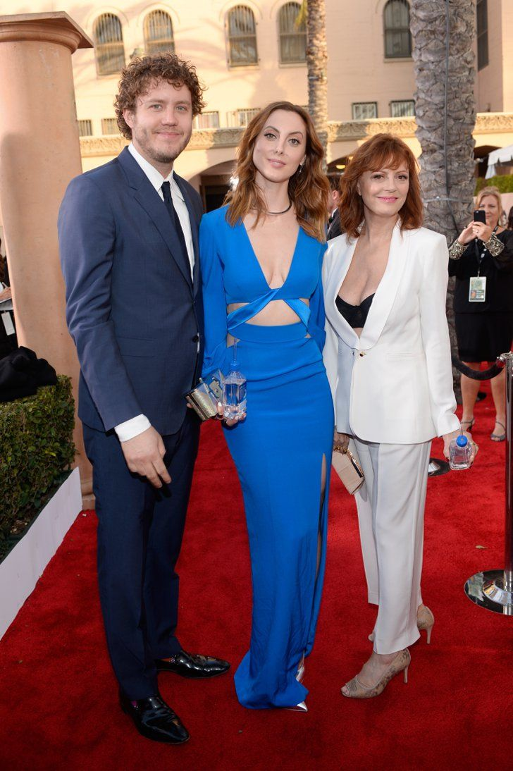 Pin for Later: The 26 Sweetest Family Moments From Award Season  Susan Sarandon's SAG Awards dates were her daughter Eva Amurri and son Jack Robbins.