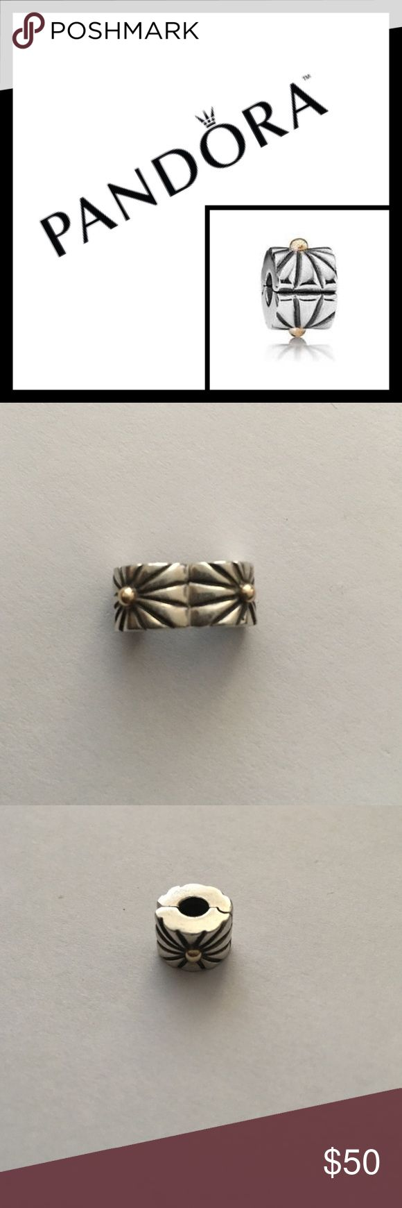 Pandora 14K Sterling Silver starburst spacer 💫 Retired, Pre loved, lots of life left! Reasonable Offers or discount for bundle! Pandora Jewelry Bracelets