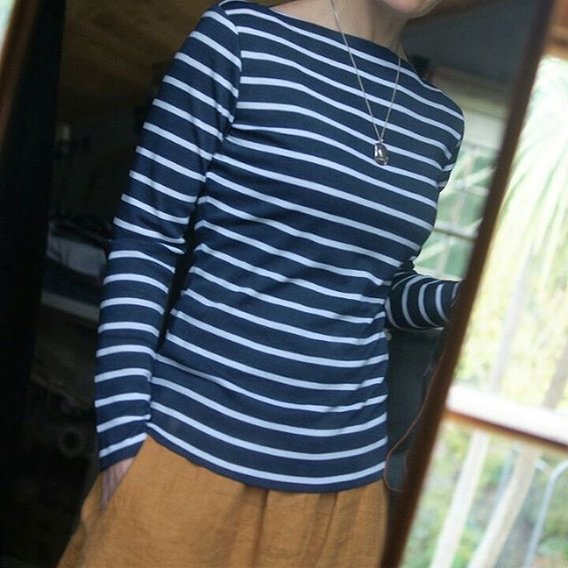 Miss Maude's Beautiful nautical striped Gable Top. Love!
