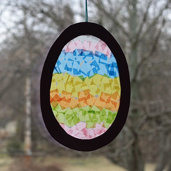 Fun! Make a cute sun catcher shaped like an Easter egg!