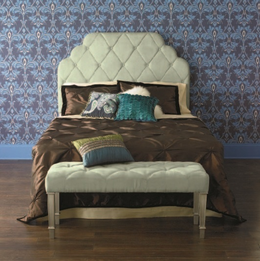 Pier 1 Hayworth Upholstered Headboard and Bench with embroidered pillows. 17 Best images about Pier 1 Imports Pin and win it on Pinterest