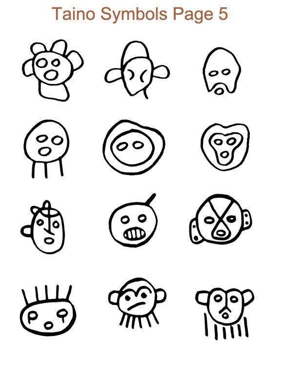 Taino Indian Gods Symbols