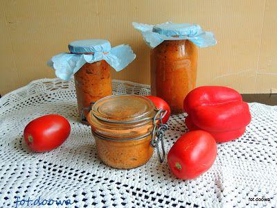 Moje Małe Czarowanie: Pesto z papryki, bakłażana i pomidorów