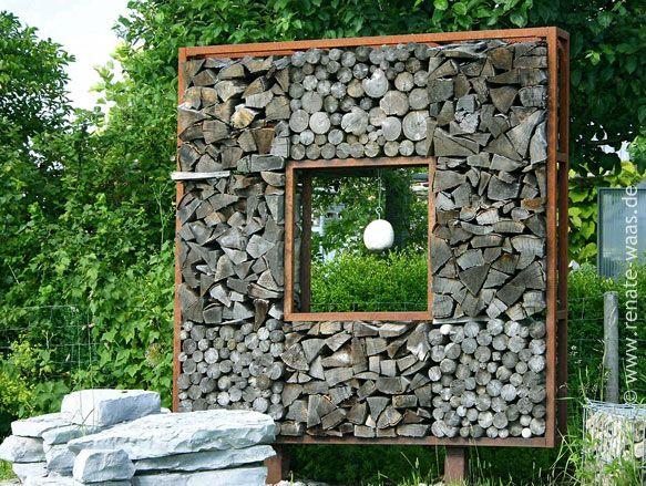 Die 25+ Besten Ideen Zu Holzlege Auf Pinterest | Brennholz ... Gartenabtrennung Ideen Stadthaus