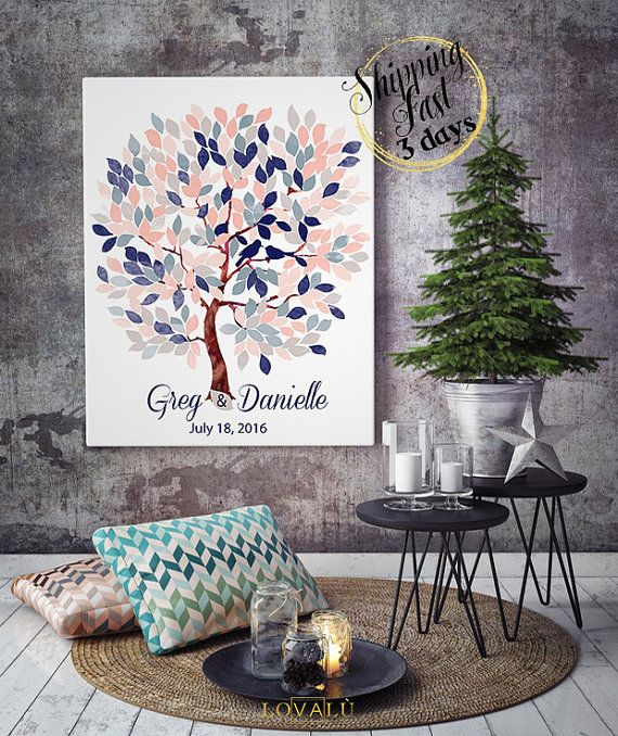 Alternative Wedding Guest Book tree  Alternative by LovaluDesign