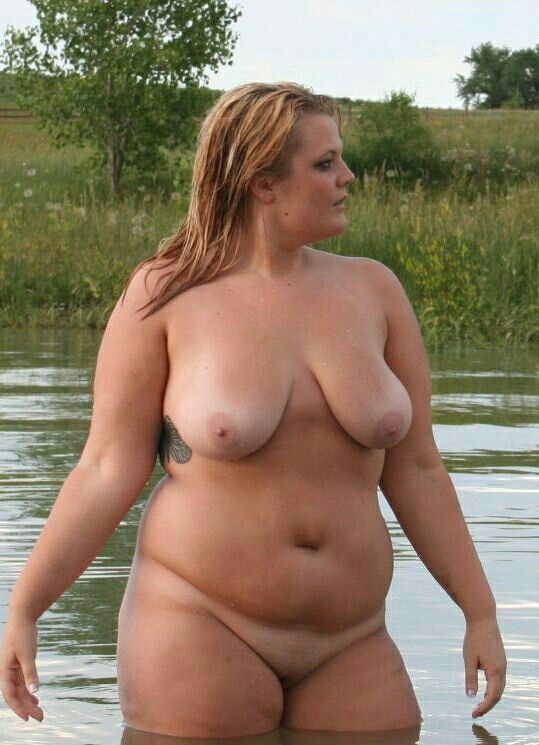 Nude fat girl in public