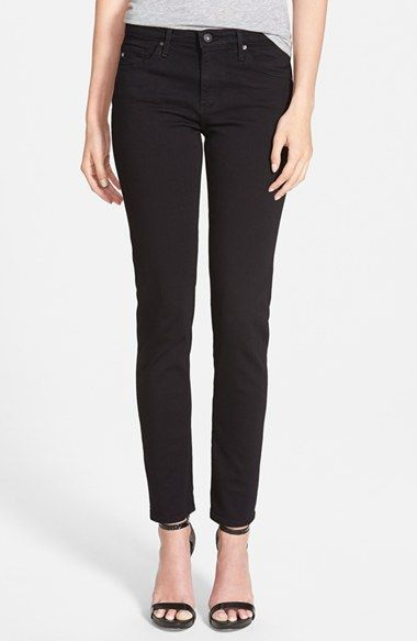 29- AG 'Prima' Mid Rise Cigarette Jeans (Super Black) available at #Nordstrom