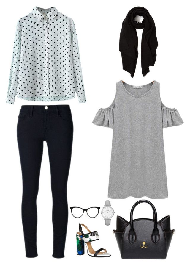 """""""Untitled #85"""" by priliscaa on Polyvore featuring Frame Denim, Chicnova Fashion, Cash Ca, Dsquared2, Topshop and STELLA McCARTNEY"""