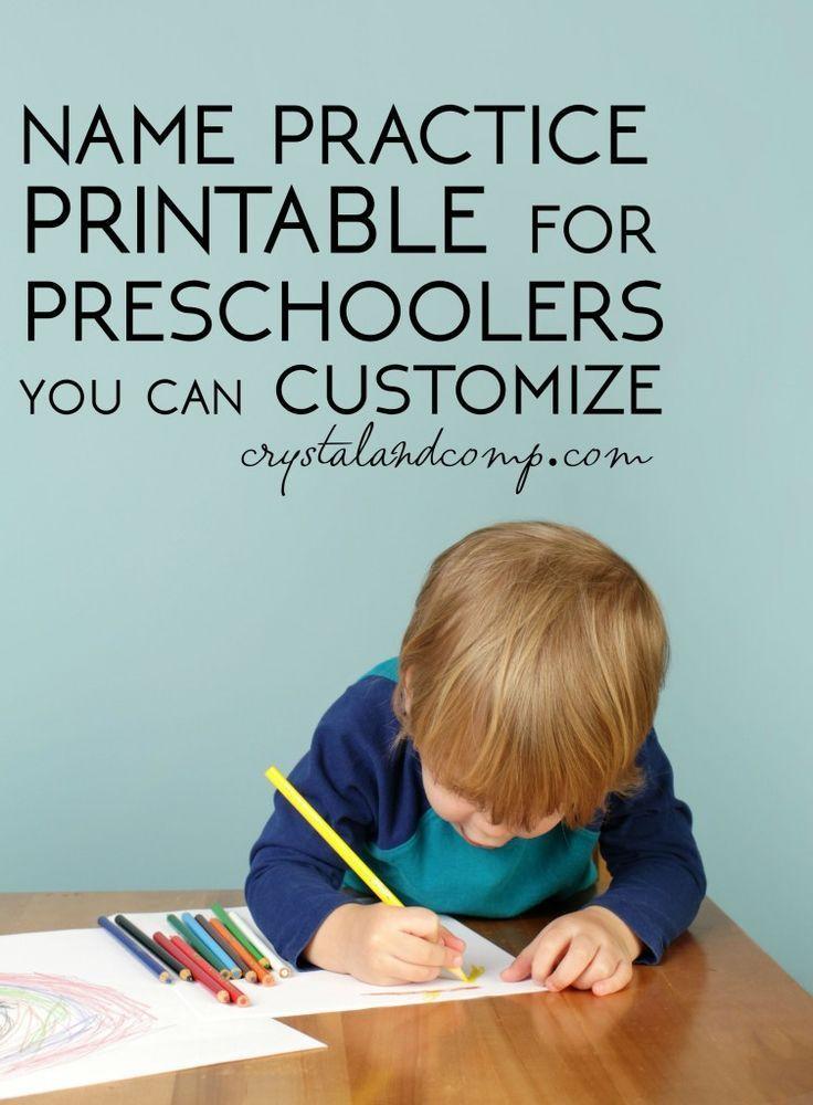 name practice printable you can customize