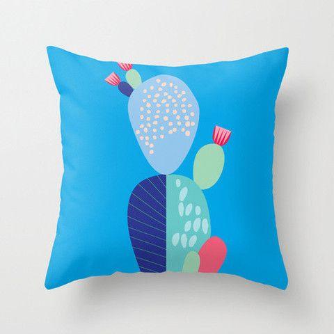 Blue Cactus Cushion