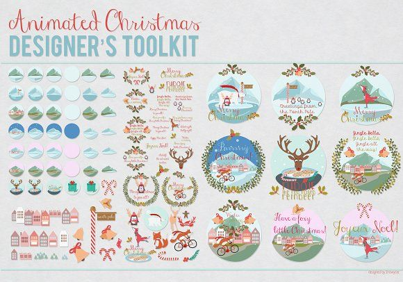 50% OFF Animated Christmas Toolkit by Northern Kraft on @creativemarket