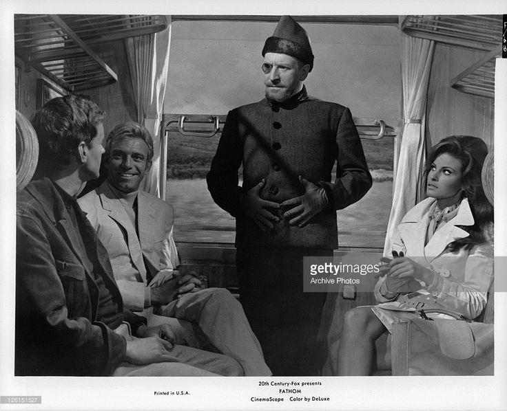 Sixties | Richard Briers, Tony Franciosa, Clive Revill and Raquel Welch in Fathom, 1967