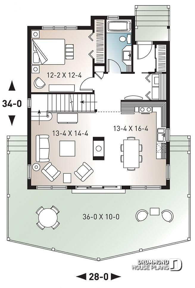 Discover The Plan 3938 The Skylark Which Will Please You For Its 3 Bedrooms And For Its Cottage Chalet Cabin Styles Cabin House Plans A Frame House Plans House Plans