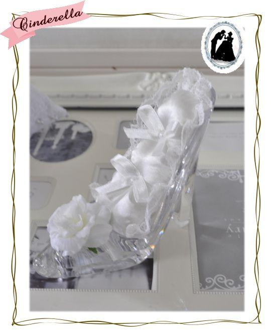 送料無料!シンデレラの靴☆リングピロー☆まさにお姫様☆まるでガラスの靴!アーティフィシャルフラワー☆完成品:楽天
