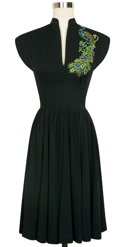 The Trashy Diva Peacock Maria Dress is back! Get yours while you still can!