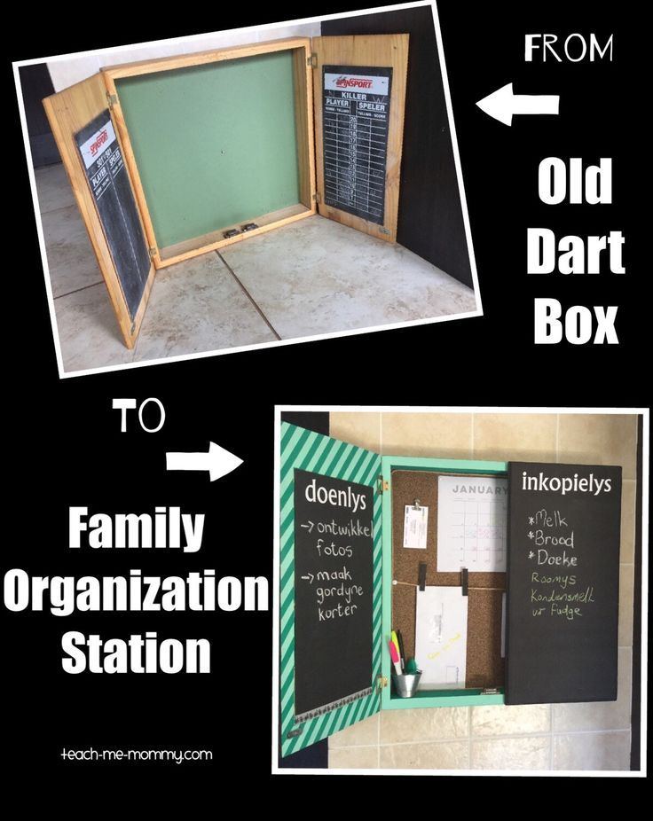 From Old Dart Box To Family Organization Station