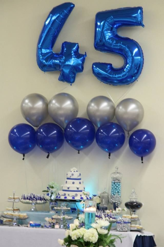 Sapphire Wedding Anniversary Gift Ideas For Parents : ... parents 45th sapphire blue anniversary dessert table- change to gold