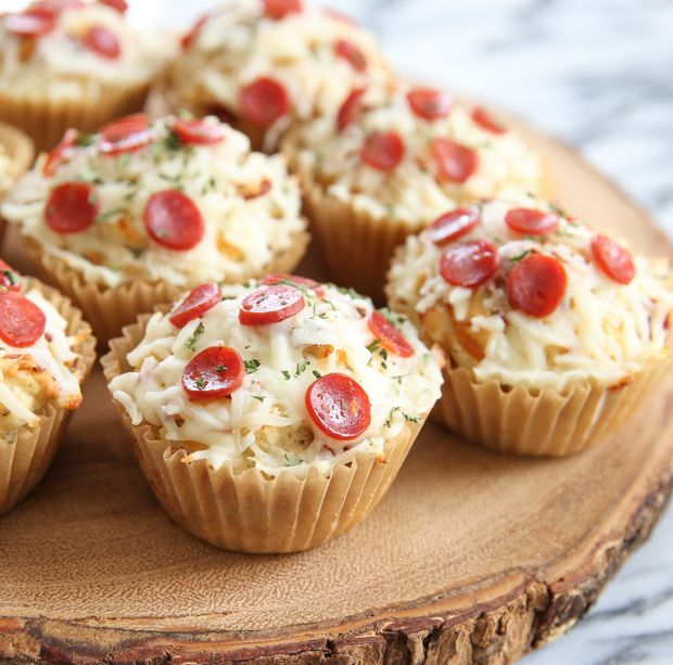 Pizza (Muffin) Cupcakes | Kirbie's Cravings | A San Diego food & travel blog  could use bisquick