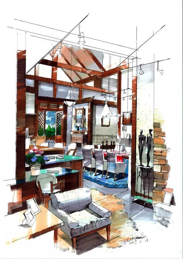 室内手绘干货分享:从基础到提高!