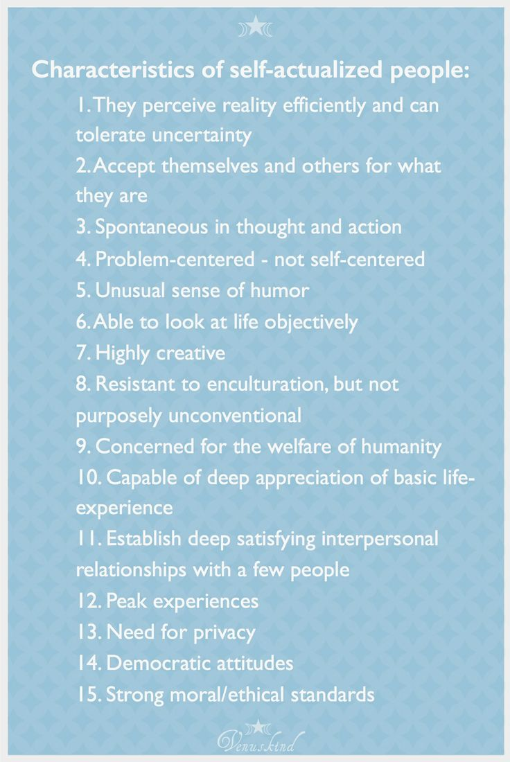 ☆ traits of self-actualized people ☆ ~ Abraham Maslow ☽☆☾