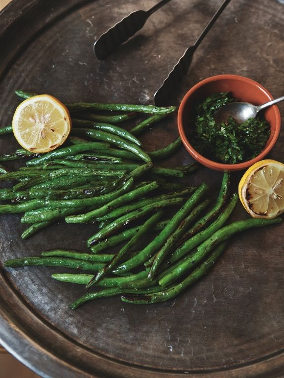 Vegan Thanksgiving: Broiled Green Beans With Roasted Lemon Gremolata